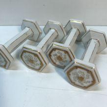 4 portes couteaux en porcelaine peinte - Napoléon 3