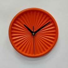 "Horloge vintage, pendule ""Tupperware Orange""- 19cm"