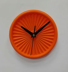 "Horloge vintage, pendule ""Tupperware Orange""- 15cm"