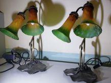 2 lampes à poser 58 cm