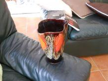 vase Vallauris vintage forme découpée