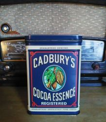 """Boite publicitaire en tôle """"Cadbury's cocoa essence"""" - Engla"""