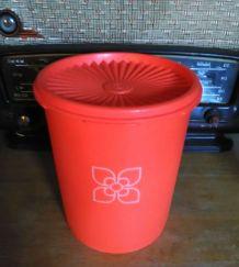 Boite Tupperware orange - Fleur