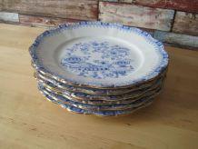 6 Assiettes plates en Bavaria décor Theresia Setlmann weiden