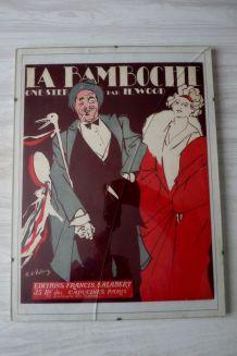 """>AFFICHE ancienne  """"LA BAMBOCHE"""""""