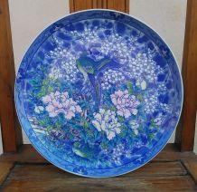 Jolie assiette décorative japonaise peinte à la main