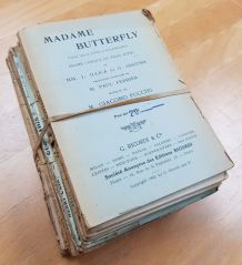 Lot de 15 anciens livrets d'opéra