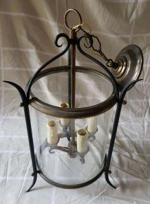 Lanterne fer forgé 4 ampoules - 1950