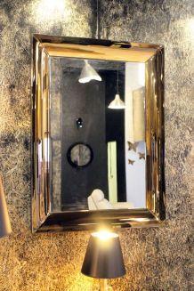 LOUXOR - Grand miroir cadre en verre couleur cuivre 110 CM