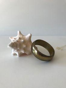 Bracelet en laiton martelé