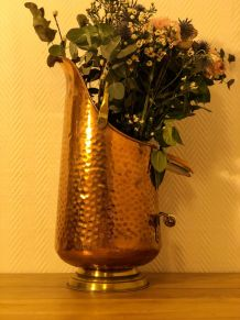Pot à charbon cuivre & céramique