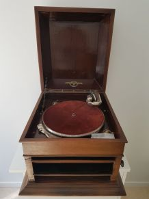 Gramophone ancien + disques