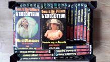 Lot de 37 romans policier l'exécuteur de Gérard de Villiers
