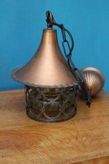 LAMPE CUIVRE STYLE 1960
