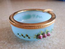 Cendrier bleu opaline vintage