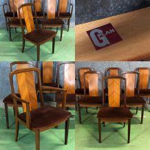 Suite de 4 chaises et 2 fauteuils G PLAN en teck