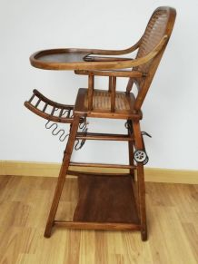 ANCIENNE CHAISE BEBE ASSISE & DOSSIER CANNES