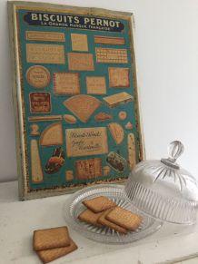 """Plaque publicitaire """"Biscuits Pernod"""""""