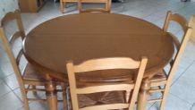 Belle table et chaise en chêne clair