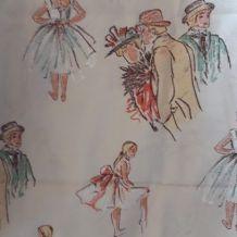 Tissu Vintage soie