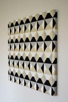 Tableau tissu décoratif Trapézio 70 x 70 cm