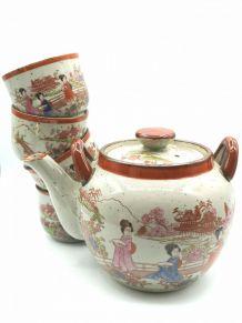 Service à thé esprit japonnais en grès