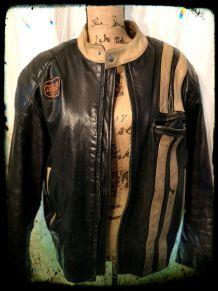 Blouson en cuir vintage SEGURA