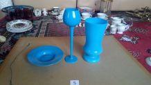 Ensemble verre vase et sous verre