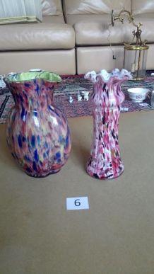 2 vases en verre