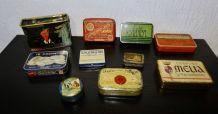 lot anciennes boites tôle pharmacie