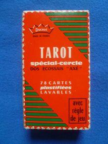 jeu tarot Ducale spécial-cercle, dos écossais axé, vintage
