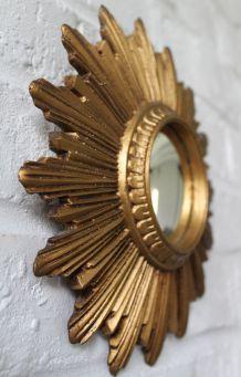 Rare petit miroir soleil œil de sorcière années 60