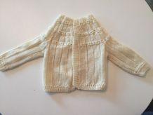 Brassière laine blanche 1 mois