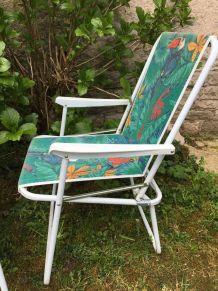Paire de chaises pliantes vintage