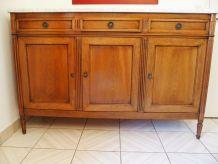 Buffet 3 portes trois tiroirs acajou style Louis XVI