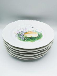 Assiettes à fromage CNP lierre sauvage