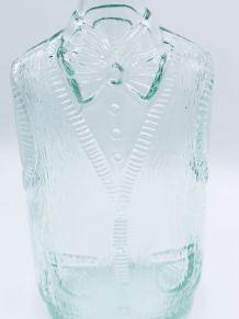 Bouteille en verre moulée homme