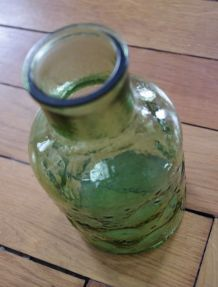 Pichet ou vase verre granité années 70