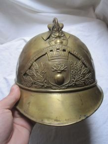 ancien casque pompier de Demigny