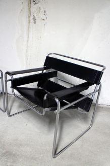 Paire de fauteuils vintage Wassily B3 de Marcel Breuer