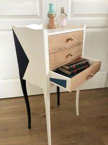 chevet 3 tiroirs design élégant