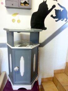 Petit meuble ancien ( console,  chevet )relooké