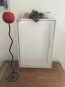 Armoire de rangement en bois à poser ou à suspendre.