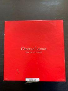"""Christian Lacroix : 6 assiettes a dessert """"Les poupées"""""""