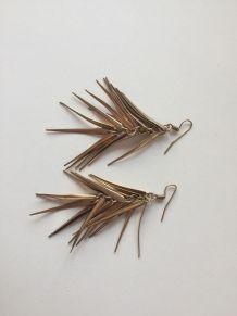 Boucles d'oreilles vintage dorées
