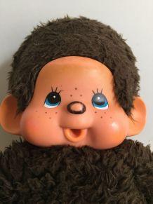 Grand Kiki aux yeux bleus, peluche vintage des années 70