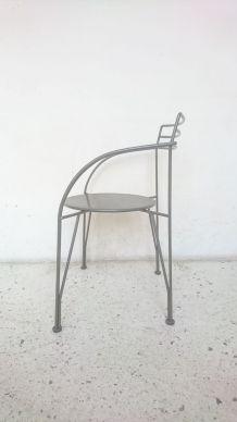 Fauteuil lune d'argent design Pascal Mourgue