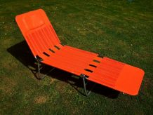 Chaise longue Kurz vintage année 1960