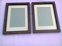 2 cadres en bois peints