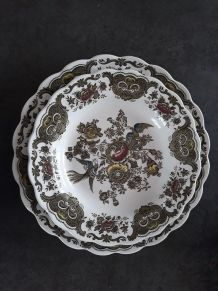 Lot de 2 assiettes Porcelaine Ridgway Staffordshire Windsor